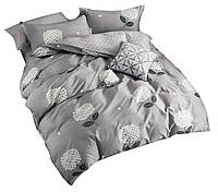Комплект постельного белья Хлопковый Сатин NR C1319 Oulaiya 8241 Серый