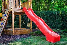 Горка детская HAPRO (Голландия) 3 м красная с возможностью подключения воды