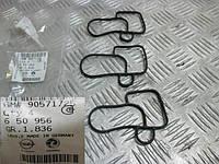 Прокладка (уплотнитель, сальник) корпуса масляного фильтра к блоку цилиндров GM 0650956 90571725 ASTRA-G ZAFIRA-A FRONTERA-B OMEGA-B SIGNUM SINTRA
