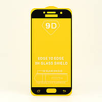 Защитное стекло AVG 9D Full Glue для Samsung A5 2017 / A520 полноэкранное черное