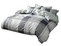 Комплект постельного белья Хлопковый Сатин NR C1343 Oulaiya 8456 Серый