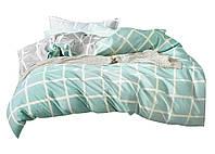 Комплект постельного белья Хлопковый Сатин NR C1347 Oulaiya 8616 Зеленый