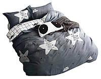 Комплект постельного белья Хлопковый Сатин NR C1366 Oulaiya 8449 Серый