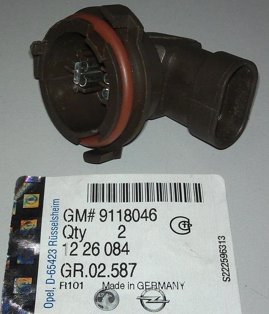 Патрон лампы H7 ближнего света фар GM 9118046 OPEL Astra-G