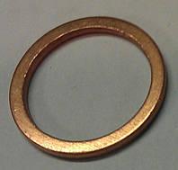 Кольцо (прокладка кольцевая, уплотнение кольцевое) 14 х 18 мм масляных и водяных трубок разных агрегатов двителя (медное) GM 2091057 0850539 11016282