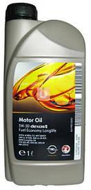 Масло моторное синтетика SAE 5W-30 1 литр канистра (NEW) dexos2 GM 1942000 93165554 OPEL (ДЛИТЕЛЬНОГО ДЕЙСТВИЯ) (GMW16177, ACEA A3/B4/C3, API SM/CF)