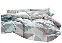 Комплект постельного белья Хлопковый Сатин Двухсторонний NR C1200 Oulaiya 1820 Серый