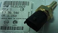 Датчик температуры охлаждающей жидкости (температуры воды) в радиаторе охлаждения двигателя (прямой) GM 6338046 55353809 для моторов Z16XER A16XER