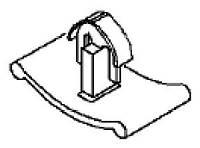 Защелка изолятора капота 1162488 1162005 Opel 1162488 / Пистон (зажим,защёлка,крепление) утеплителя капота (пластиковый чёрный) GM 1162742 1162005