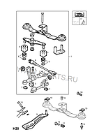 Втулка опоры механизма переключения передач (кулисы) (цоколь, соединение шаровое) GM 0758223 90442265 90223681 OPEL ASTRA-F ASTRA-G ; ZAFIRA-A ASTRA-H