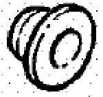 Резинка (втулка) уплотнительная датчика уровня жидкости в бачке стеклоомывателя лобового и заднего стекла и фар OPEL Astra-F Astra-G Astra-H Zafira-A