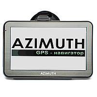 GPS-Навигатор Azimuth 5 дюймов / 800x480 / 256M / 8GB / 800 MHz / 1000mA / 300 nits / AV-In / Bluetooth / Навлюкс Серый (iw2u73)