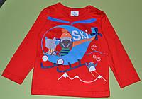 """Кофточка детская  """"Вертолёт"""" на мальчика/ хлопок/ 3 года, 5,6 лет (98,110,116 см)"""