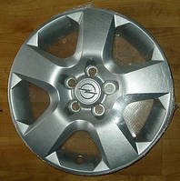 Колпак (крышка) R-16 серебряный стального колёсного диска (6.5J X 16 1002187) (ИДЕНТ. NN) 5 отверстий для крепления GM 6006077 13198634 OPEL Astra-H