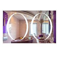 Зеркало прямоугольное с LED подсветкой SmartWorld Milena 80x120x3 см (1029-d8-80x120x3)
