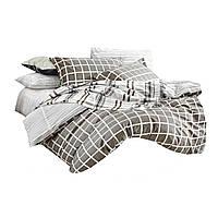 Комплект постельного белья Хлопковый Сатин Двухсторонний NR C1224 Oulaiya 9104 Кремовый, Бежевый