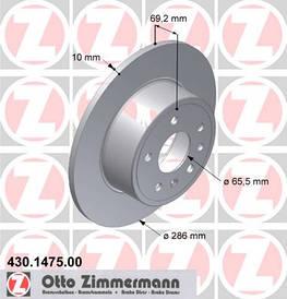 Тормозной диск задний 0569118 0569210 90512910 FTE 01-1005690118-A OPEL VECTRA-B