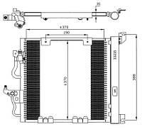 АНАЛОГ для Opel 1850099  GM 93178961 Радиатор кондиционера (конденсатор) без дигидрационного бачка (без осушителя) 1850099 93178961 Z13DTH Z17DTL