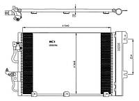 АНАЛОГ для Opel 1850096  GM 93178958 Радиатор кондиционера (конденсатор) с осушителем (дигидрационным бачком) 1850096 93178958 Z14XEL Z14XEP Z16XEP