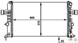Радиатор охлаждения двигателя Thermotec D7X054TT 1300258