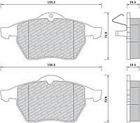 Тормозные колодки передние, комплект 1605036 1605912 1605966 9195146 90512037 9198688 OPEL Calibra Vectra-B SAAB 9-5, 900 II 1.6-3.0D 07.93-