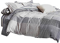 Комплект постельного белья Хлопковый Сатин NR C1301 Oulaiya 7917 Серый