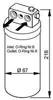 АНАЛОГ для Opel 1618010  GM 52482791 Осушитель кондиционера = 1618193 52484491 Nrf 33104 = Nrf 33076 Opel Omega-B Vectra-B Nrf 33076 /  / осушувач