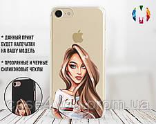 Силиконовый чехол для Apple Iphone XS Max Мадам (4024-3138)