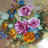 Алмазная вышивка Натюрморт Розы букет цветы 30х30. Набор для рукоделия.