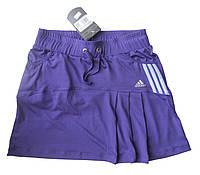 Юбка с шортами для тенниса женская эластан.Юбка -шорты..Фиолетовая. Мод. 4032., фото 1