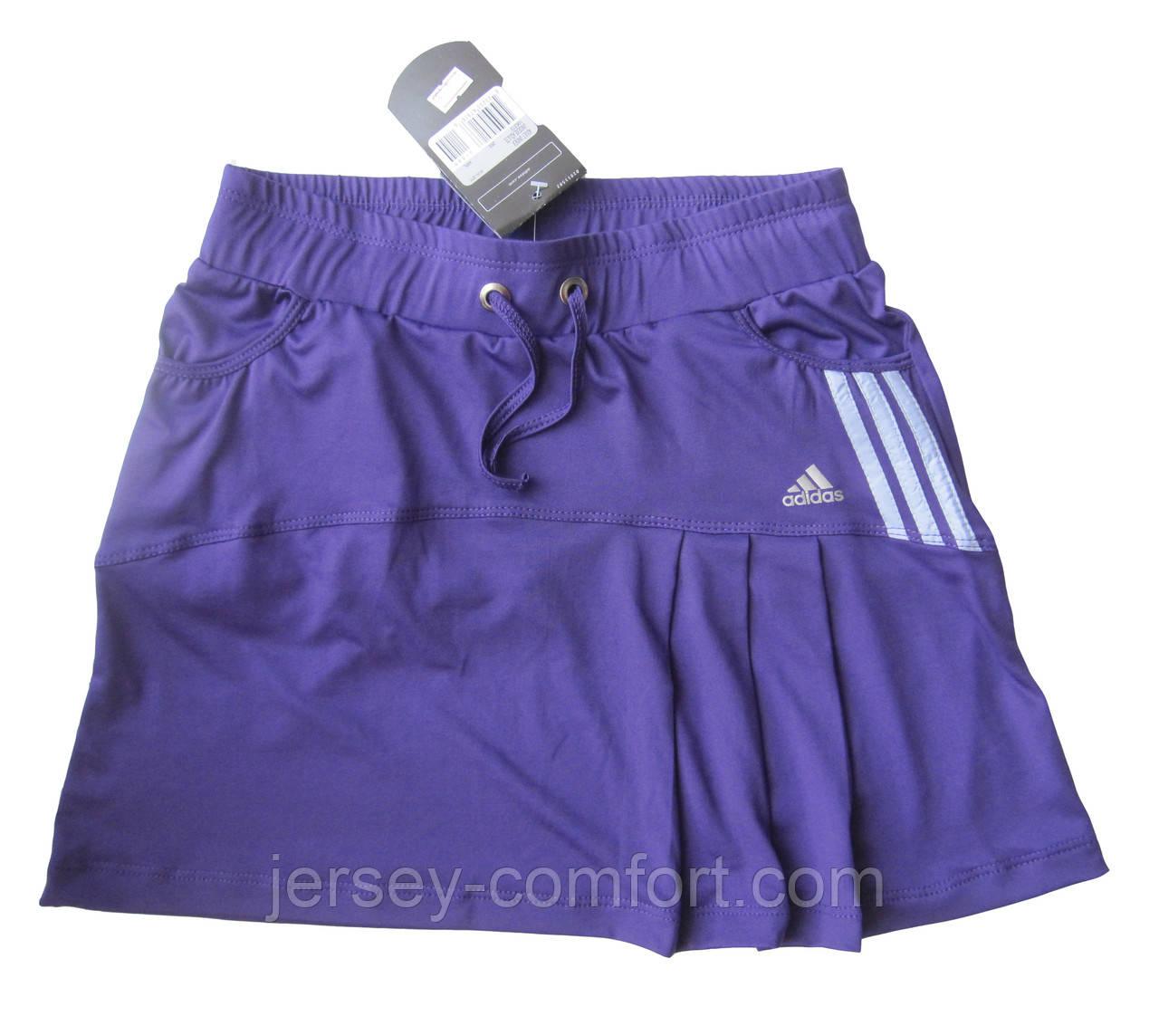Юбка с шортами для тенниса женская эластан.Юбка -шорты..Фиолетовая. Мод. 4032.