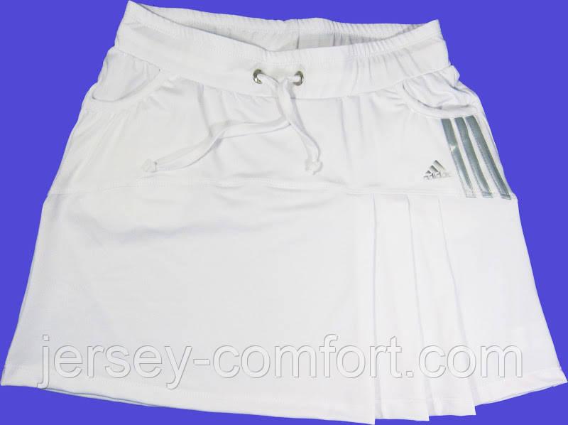 Юбка белая, разные цвета.Юбка -шорты. Юбка с шортами. Юбка для тенниса.  Юбка женская.Мод. 4032.