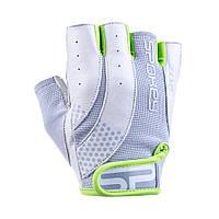 Перчатки для фитнеса женские Spokey ZOE II M Бело-серые с салатовым (s0190)