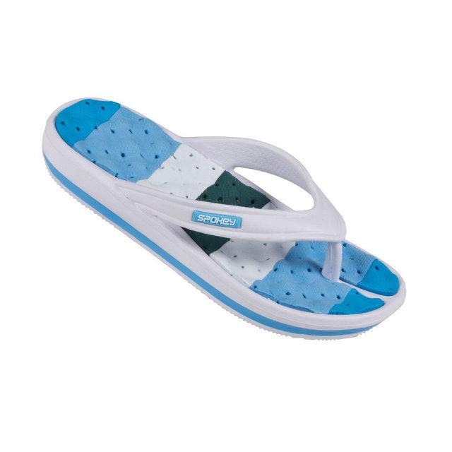 Вьетнамки пляжные женские Spokey Medusa 41 Белые с голубым (s0028)