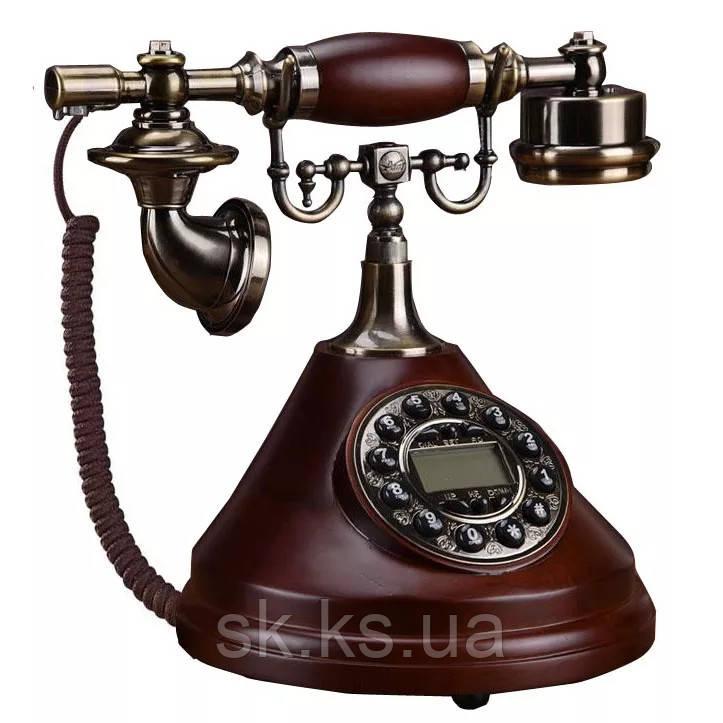 Стационарный деревяный gsm телефон sertec D10