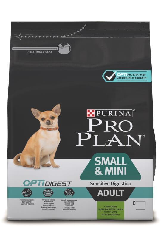 Корм ProPlan Adult Small&Mini Optidigest Про План Едалт Смол&Міні Оптідайждест з ягням 0,700 гр