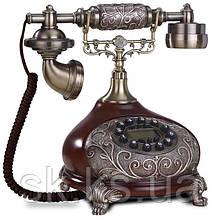Стационарный деревяный gsm телефон sertec D12