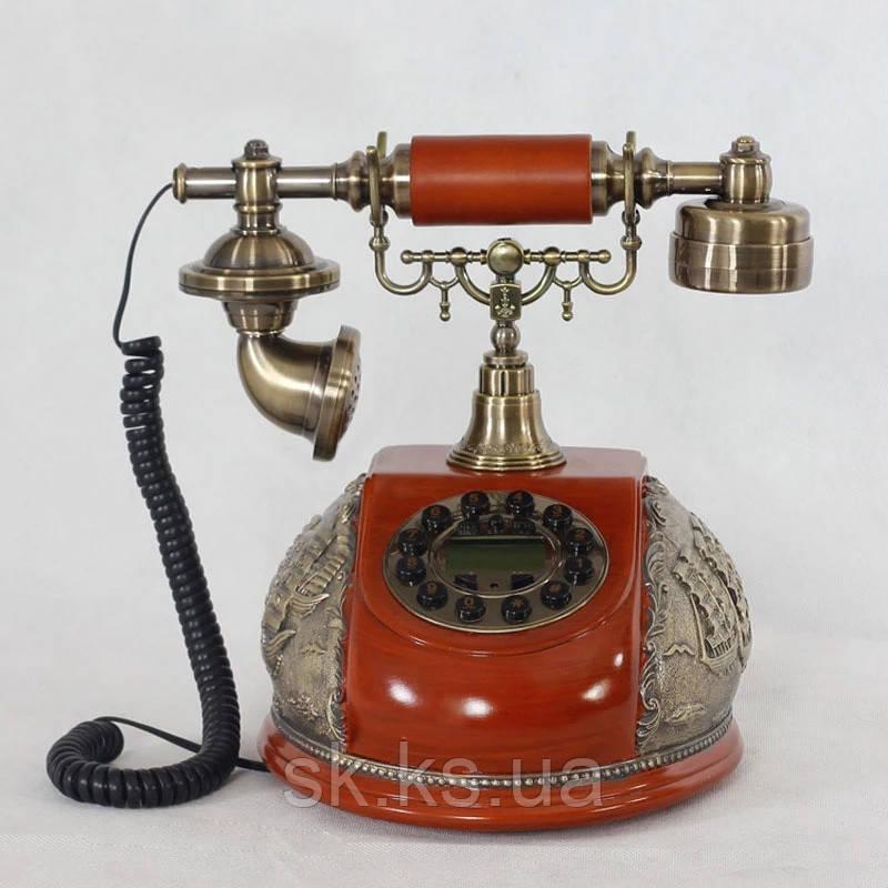 Стационарный деревяный gsm телефон sertec D16