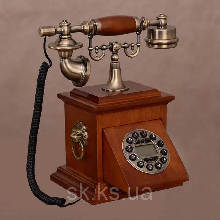 Стационарный деревяный gsm телефон sertec D19