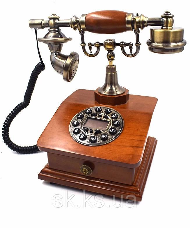 Стационарный деревяный gsm телефон sertec D22