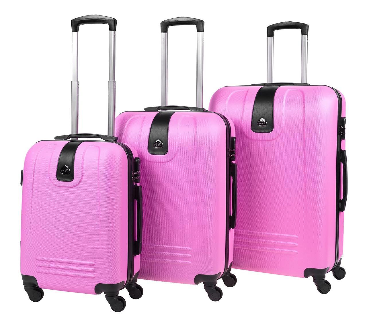 Набор чемоданов Bagia LONDON Розовый (5902687120116)
