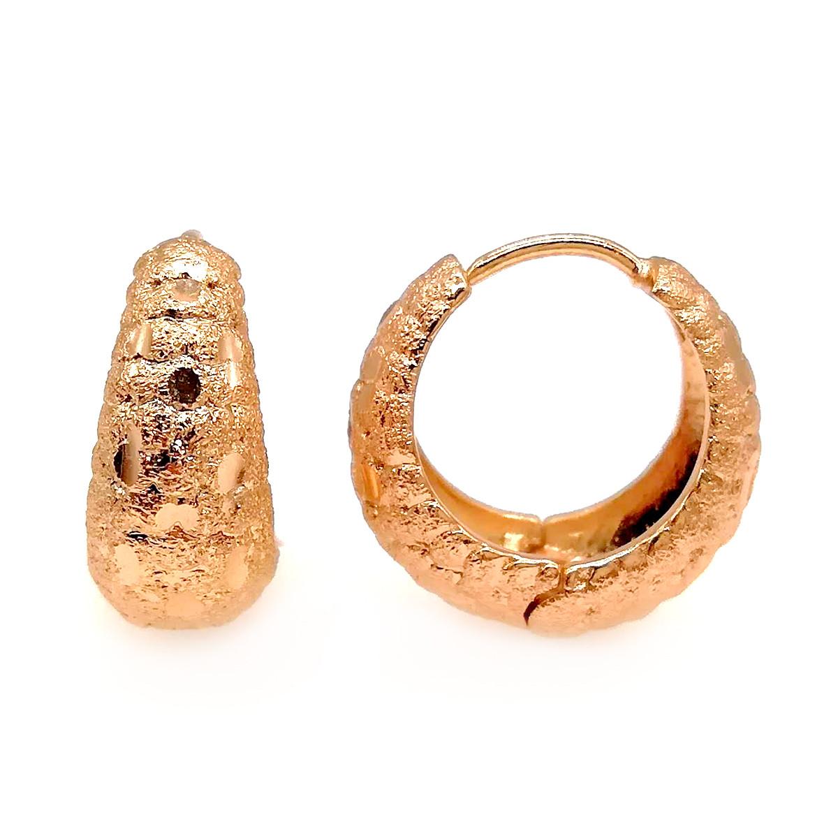 Серьги Хuping из медицинского золота, в позолоте, ХР00202 (1)