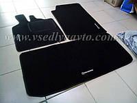 Ворсовые коврики в салон и багажник SMART Fortwo 451 с 2007 г. (Черные)