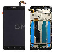 Дисплей Xiaomi Redmi Note 4X черный  (LCD экран, тачскрин, стекло, рамка в сборе) Snapdragon BV055FHM-N00-1909_R1.0