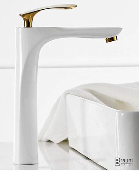 Art Design Смеситель для умывальника 80050WG белый золото