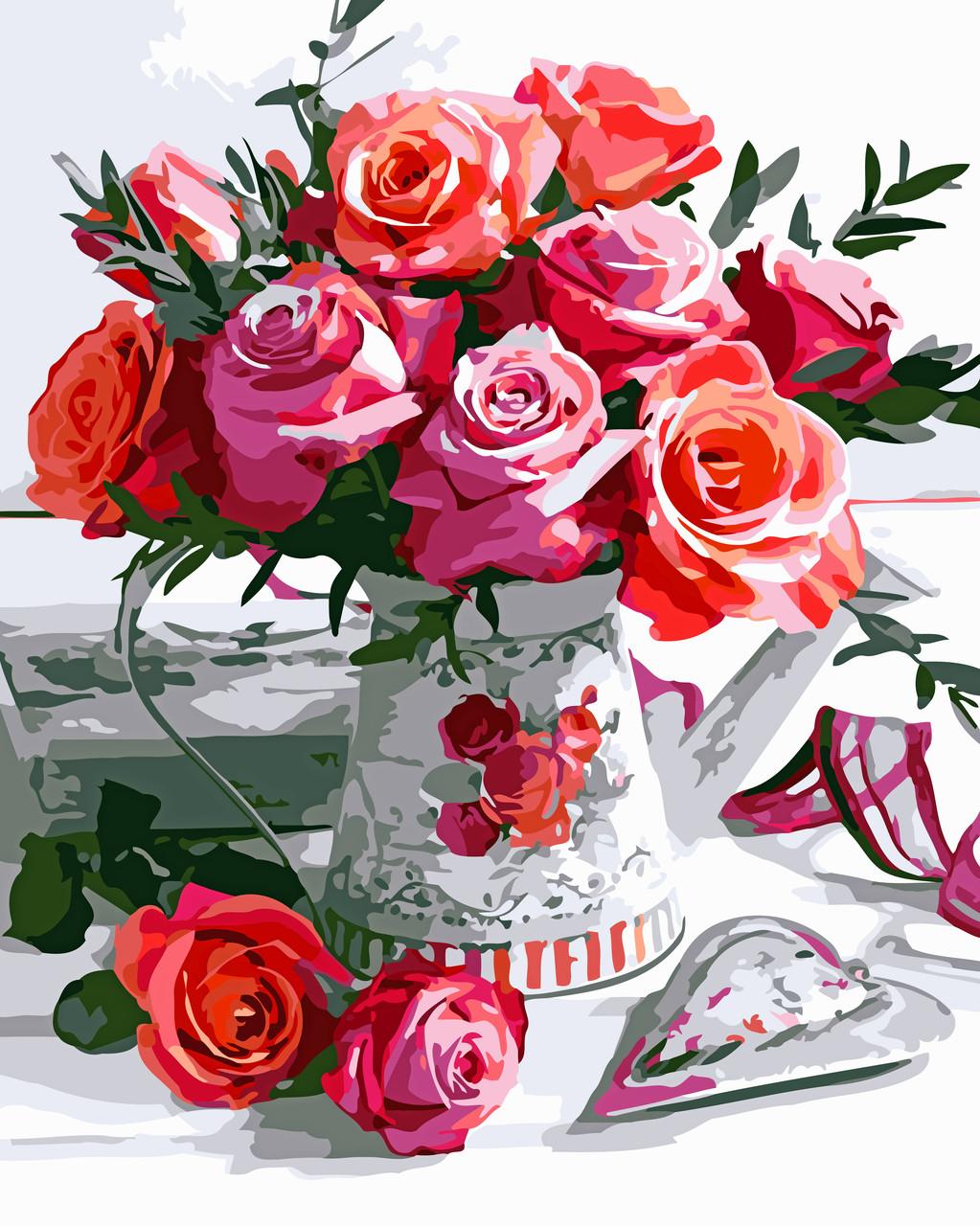 Художественный творческий набор, картина по номерам Букет роз, 40x50 см, «Art Story» (AS0519)