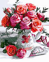 Художественный творческий набор, картина по номерам Букет роз, 40x50 см, «Art Story» (AS0519), фото 1