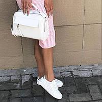 Белый клатч из натуральной кожи , кожаная стильная сумка Супер ціни. Акції обмежені за часом. , фото 1