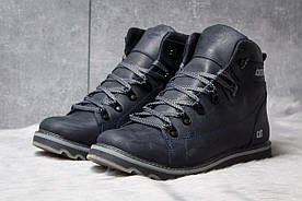 Зимние ботинки на меху CAT Caterpilar, темно-синие 30754