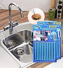 Палочки Sani Sticks, 12 шт, для очистки засоров слива раковины и канализации, фото 2